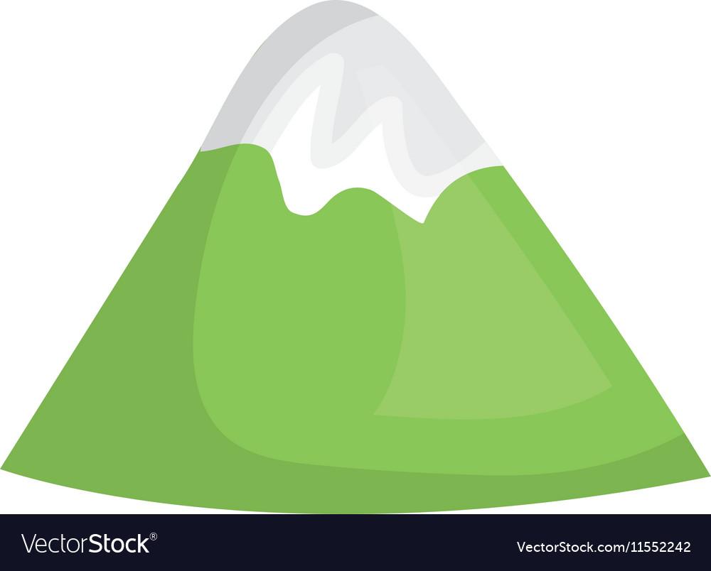 Mountains glacier isolated icon