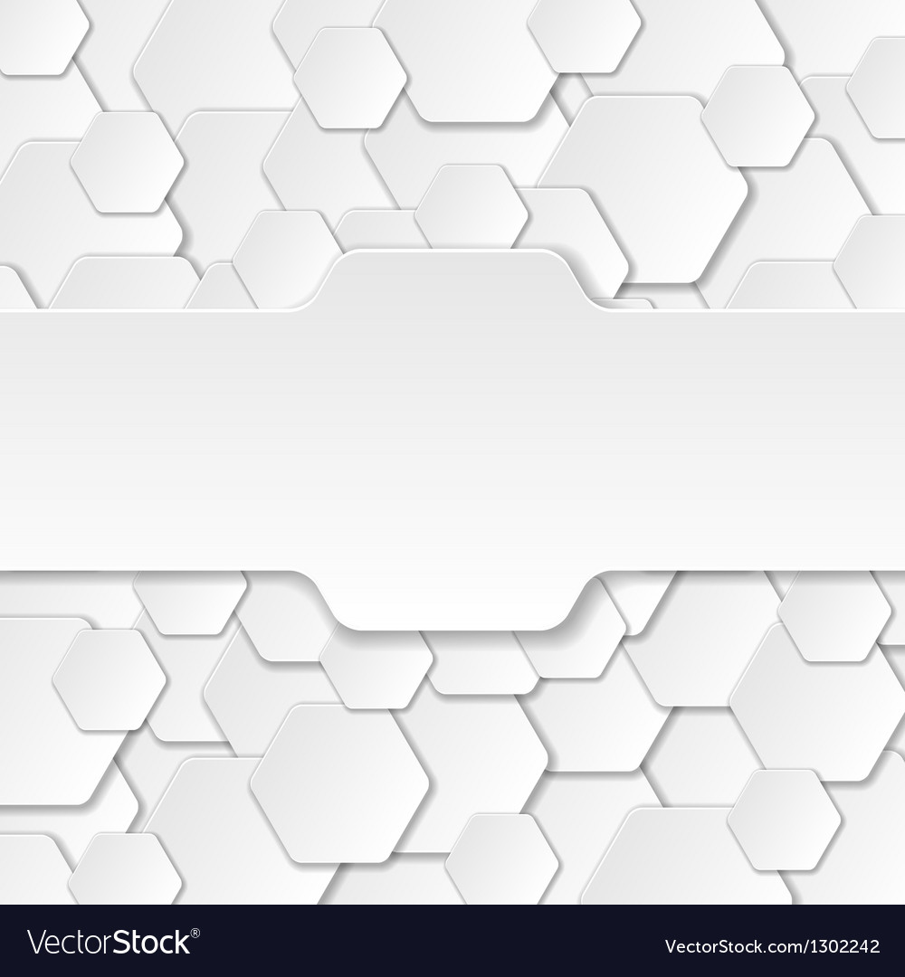 Neutral Paper Cut Background vector image