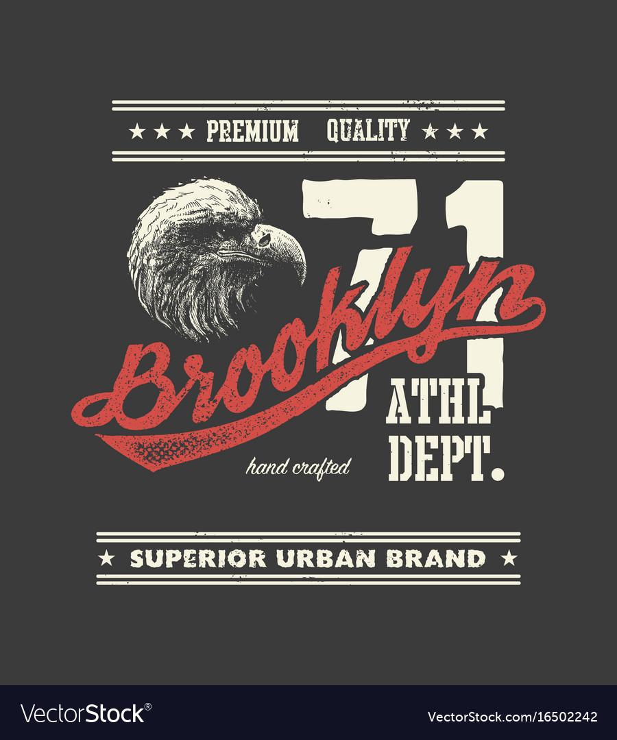 Vintage urban typography with eagle head