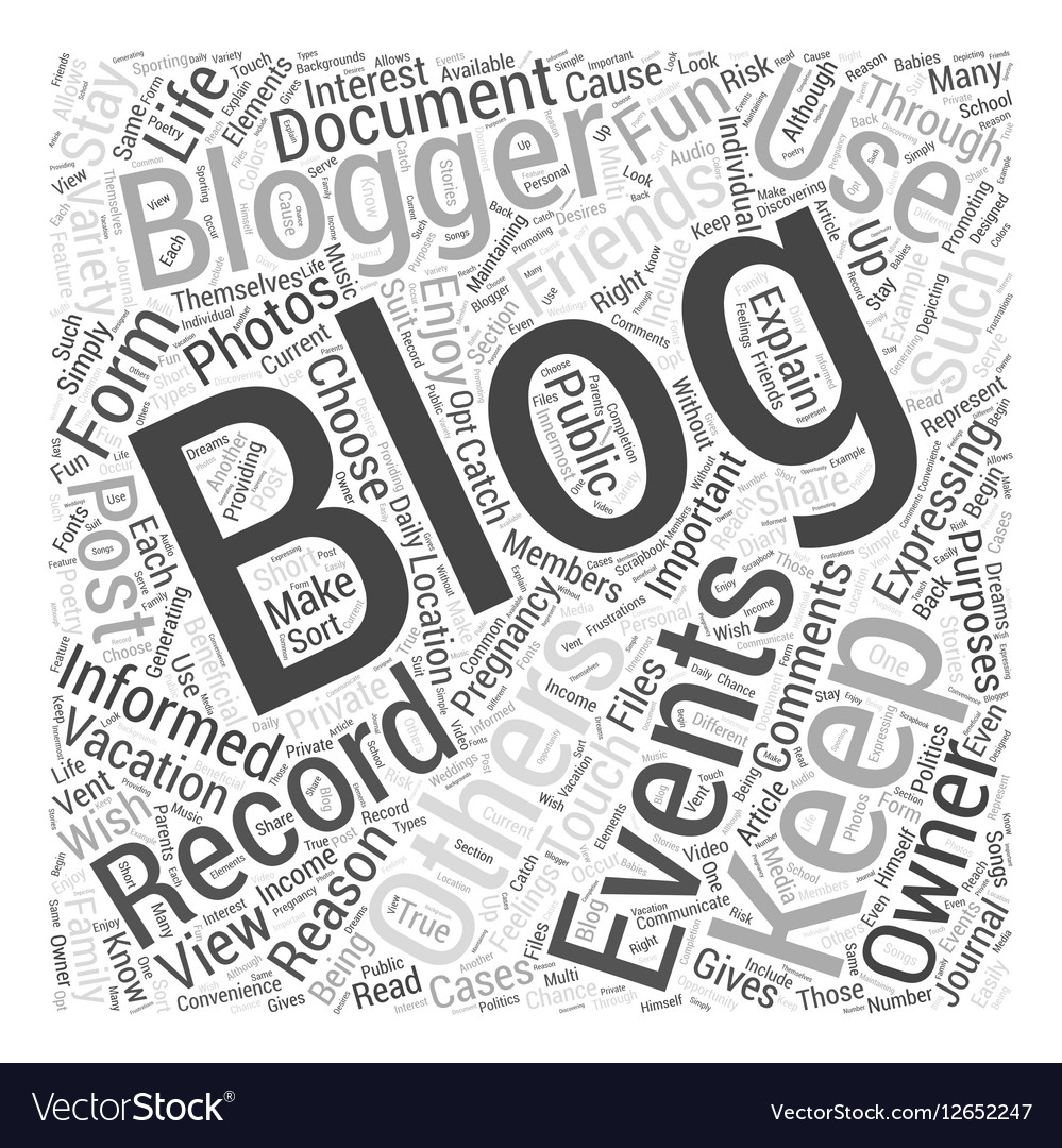 Blogging For Fun Word Cloud Concept