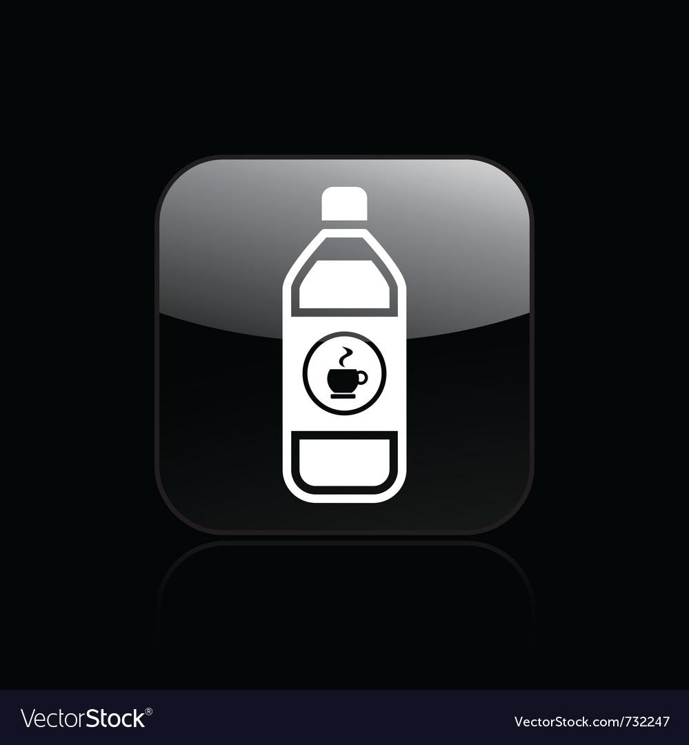 Coffee bottle single icon vector image