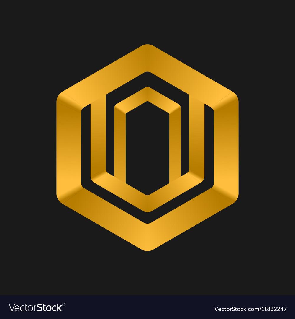 Cube Logo templates abstract logotype symbol