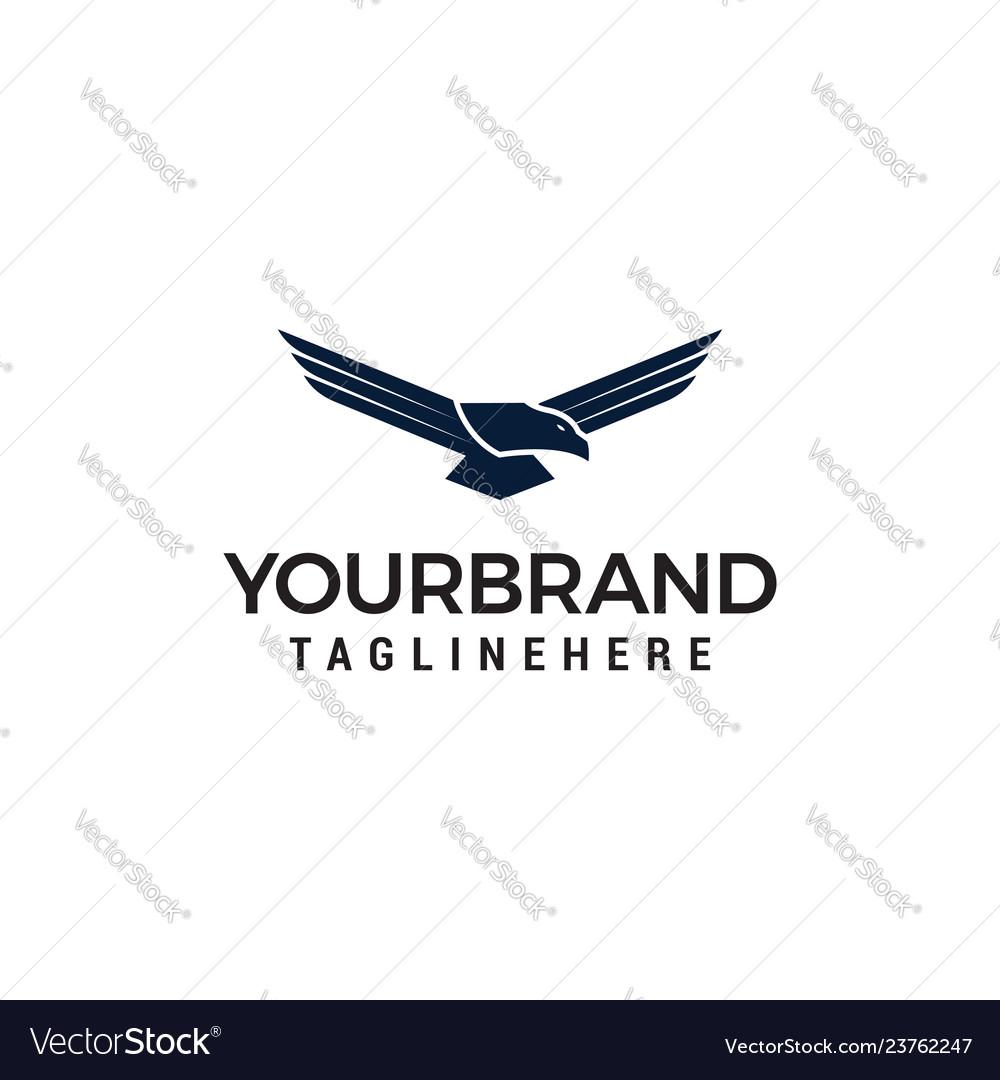 Flying eagle design template