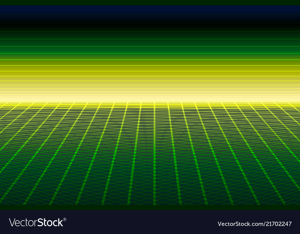 Green perspective grid 3d dimension concept