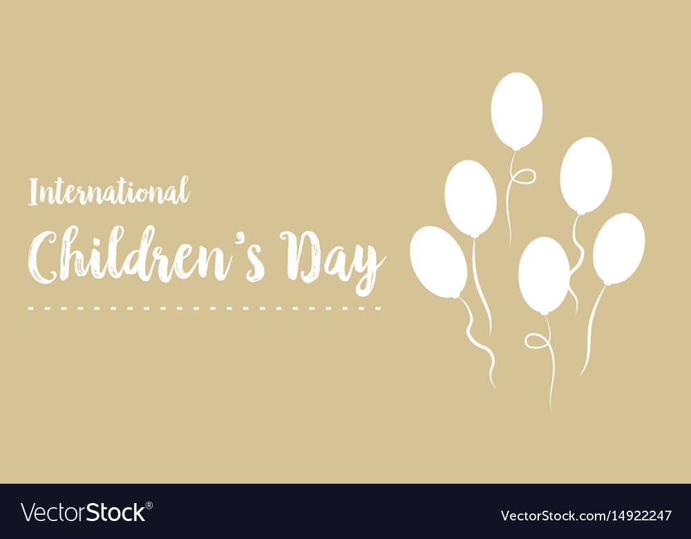Happy childrens day design background vector image
