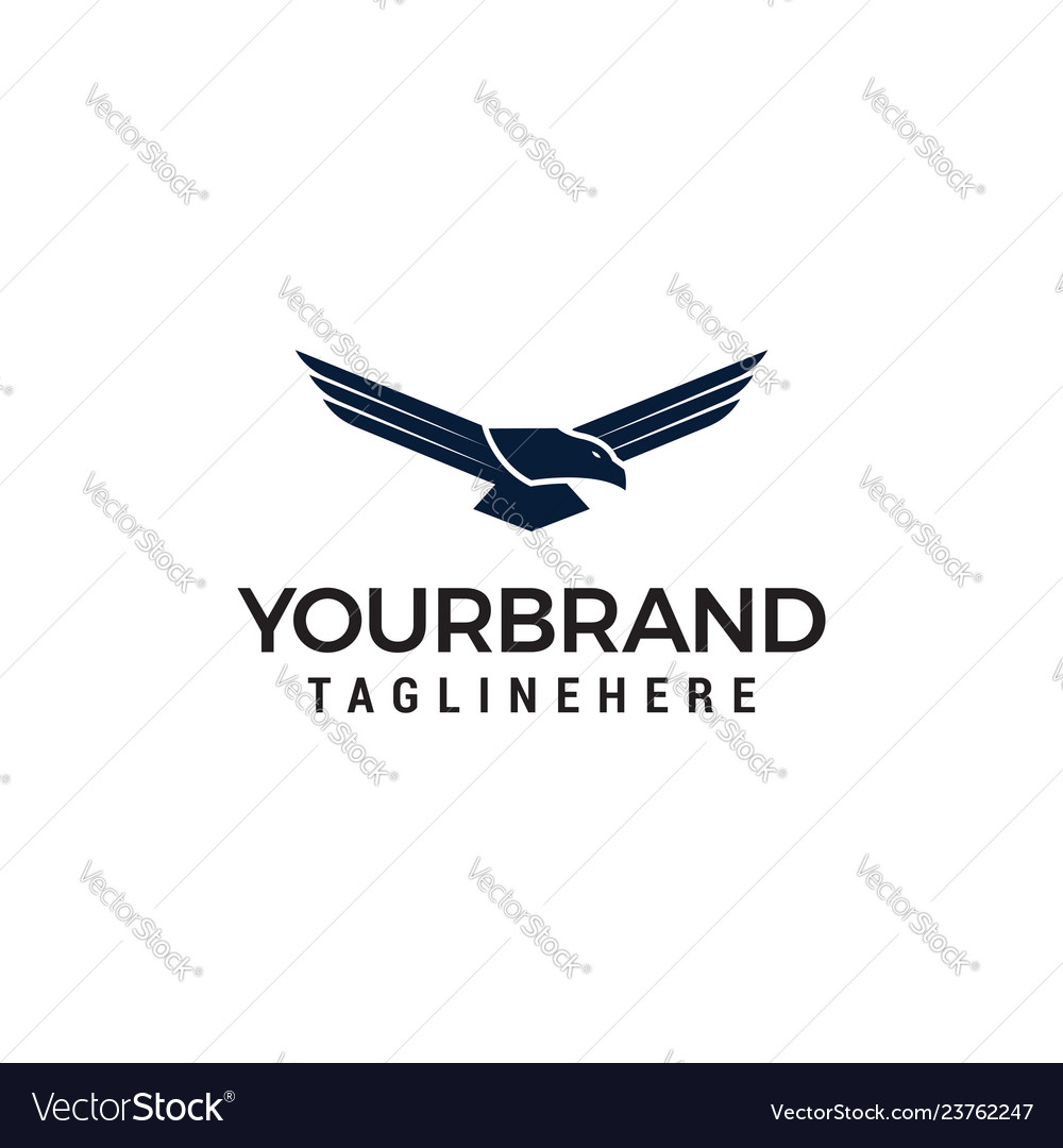 The flying eagle design template