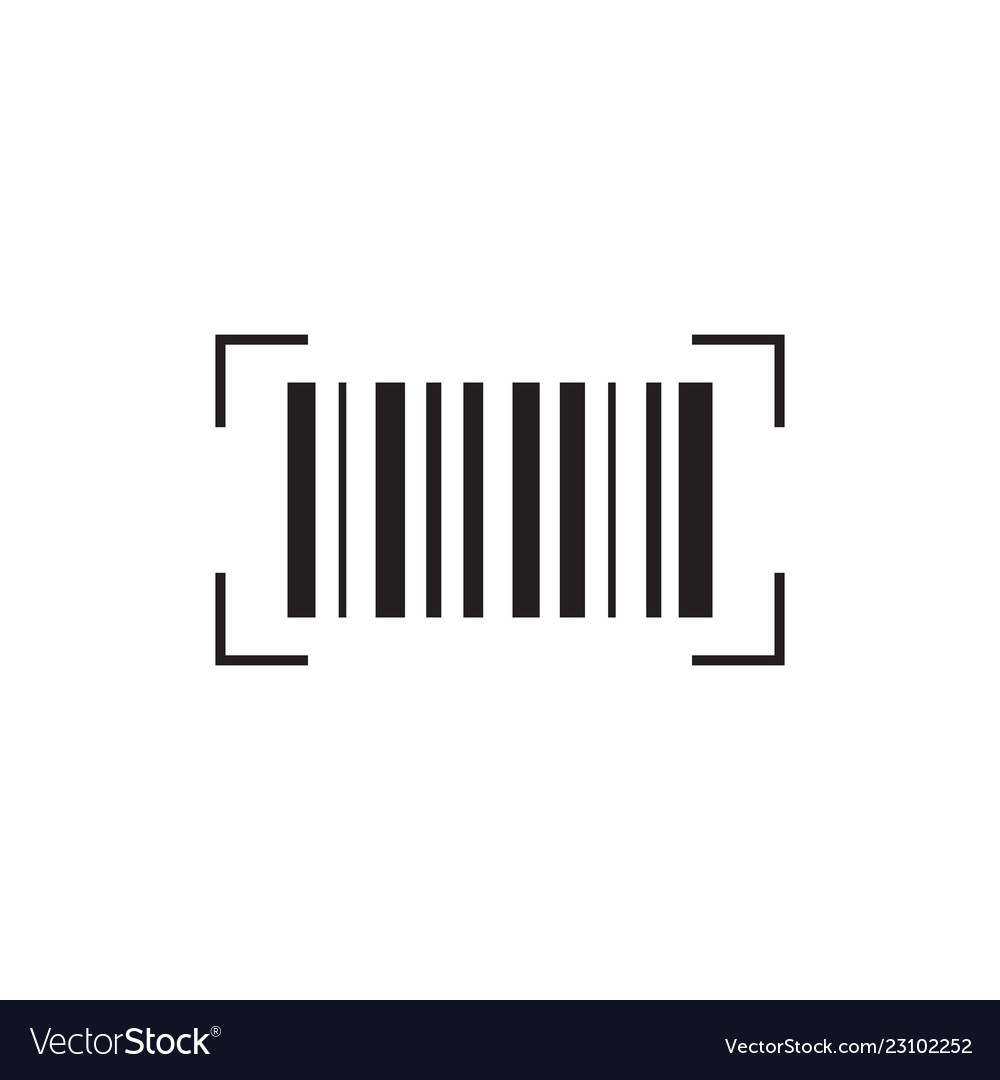 Barcode icon signs and symbols icon