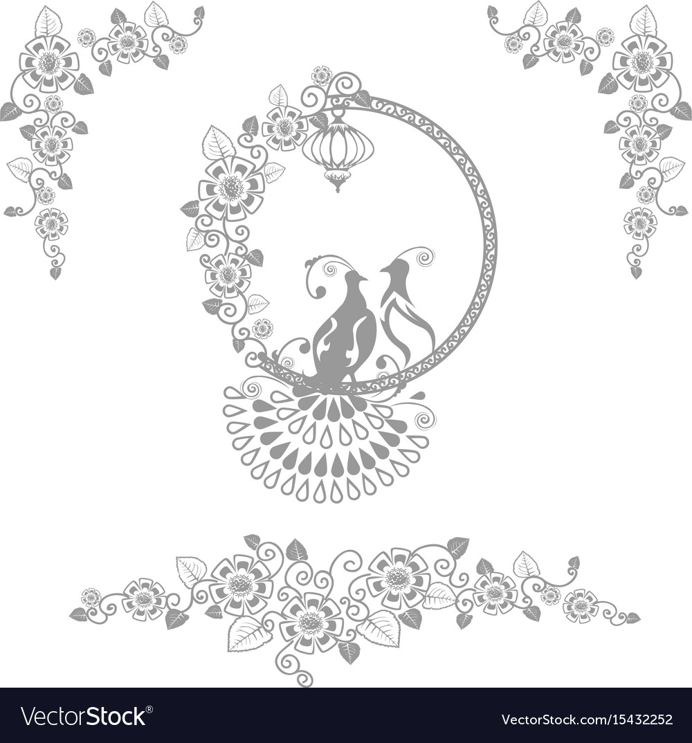 Fairy wedding birds vector image
