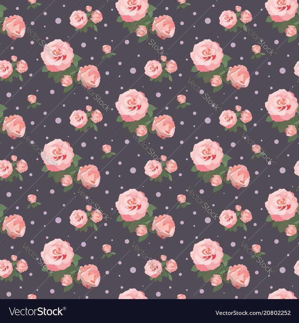 Seamless rose pattern floral background vintage