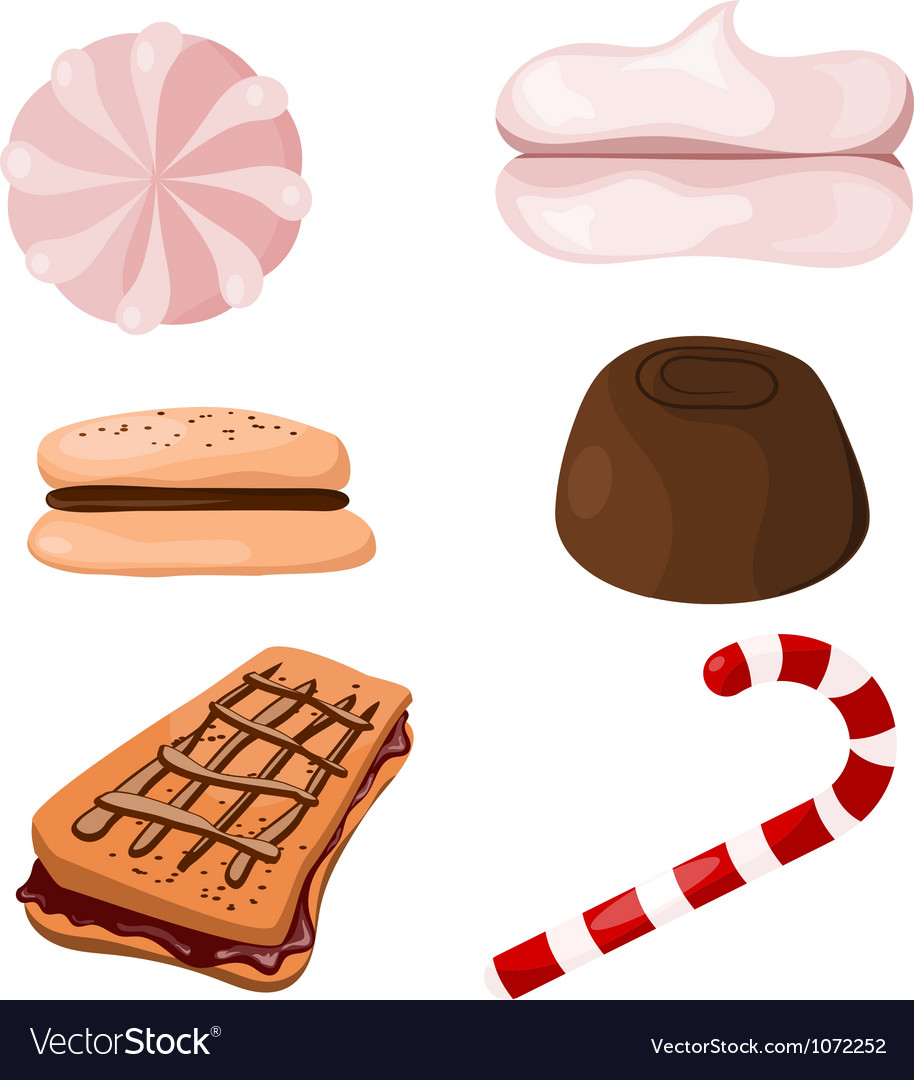 Set of sweets Cartoon eps10 vector image