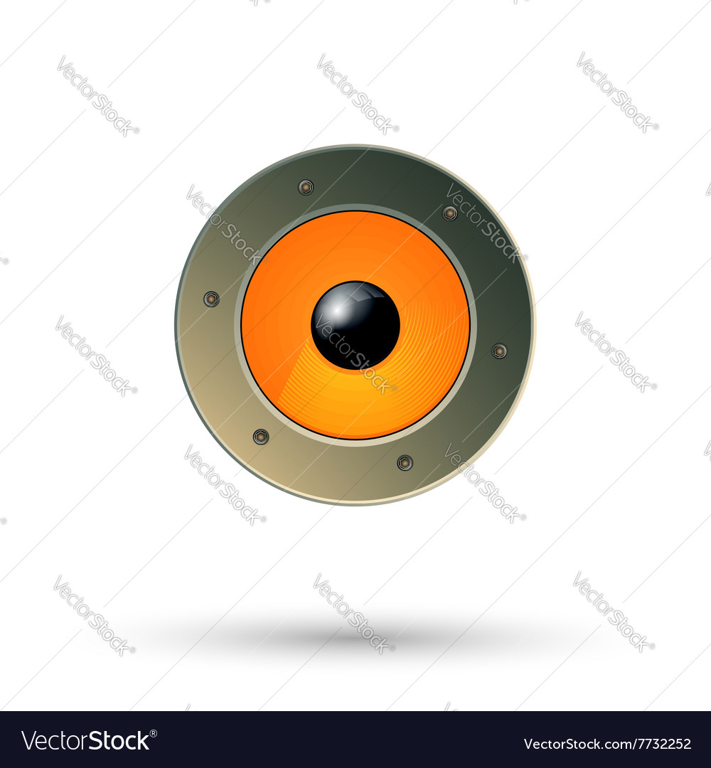 Speaker icon isolated vector image