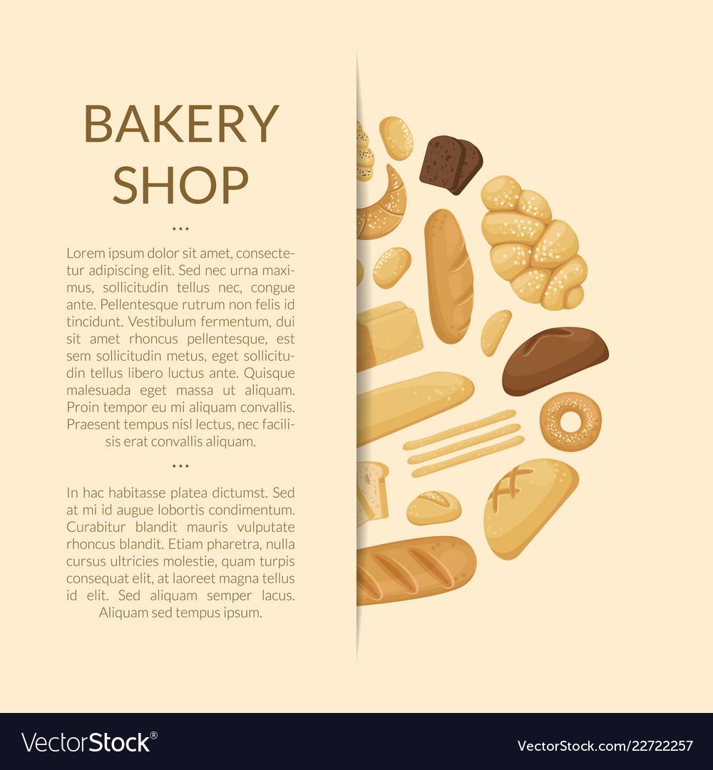 Cartoon bakery elements background of