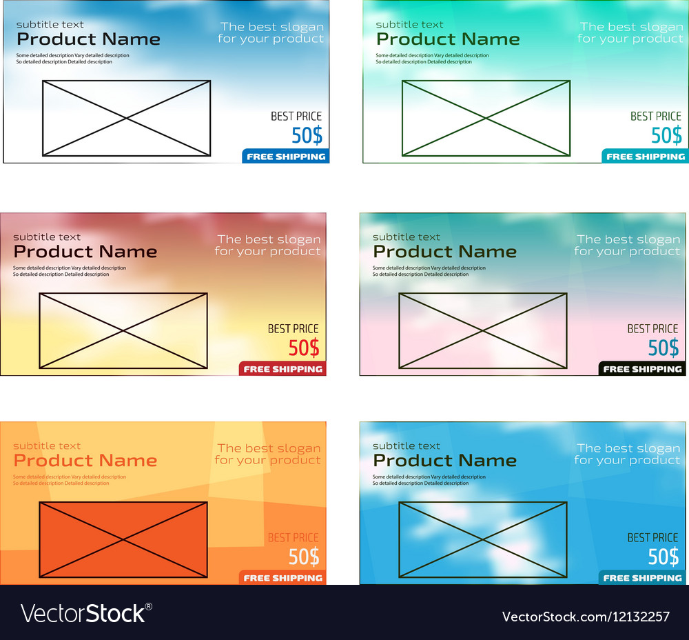 Colorful modern text box template