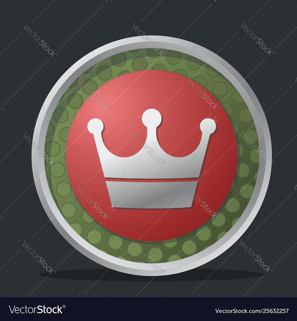 Crown dark badge