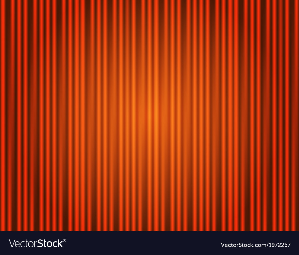Curtain orange closed with light spots vector image