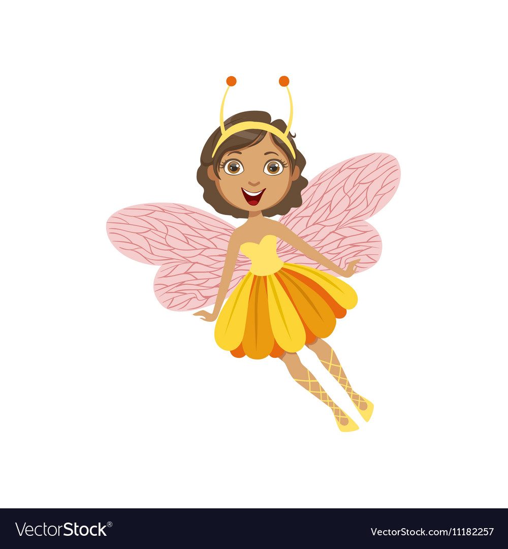 Cute Fairy With Insect Features Girly Cartoon
