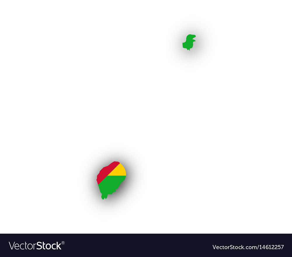 Map and flag of sao tome and principe vector image