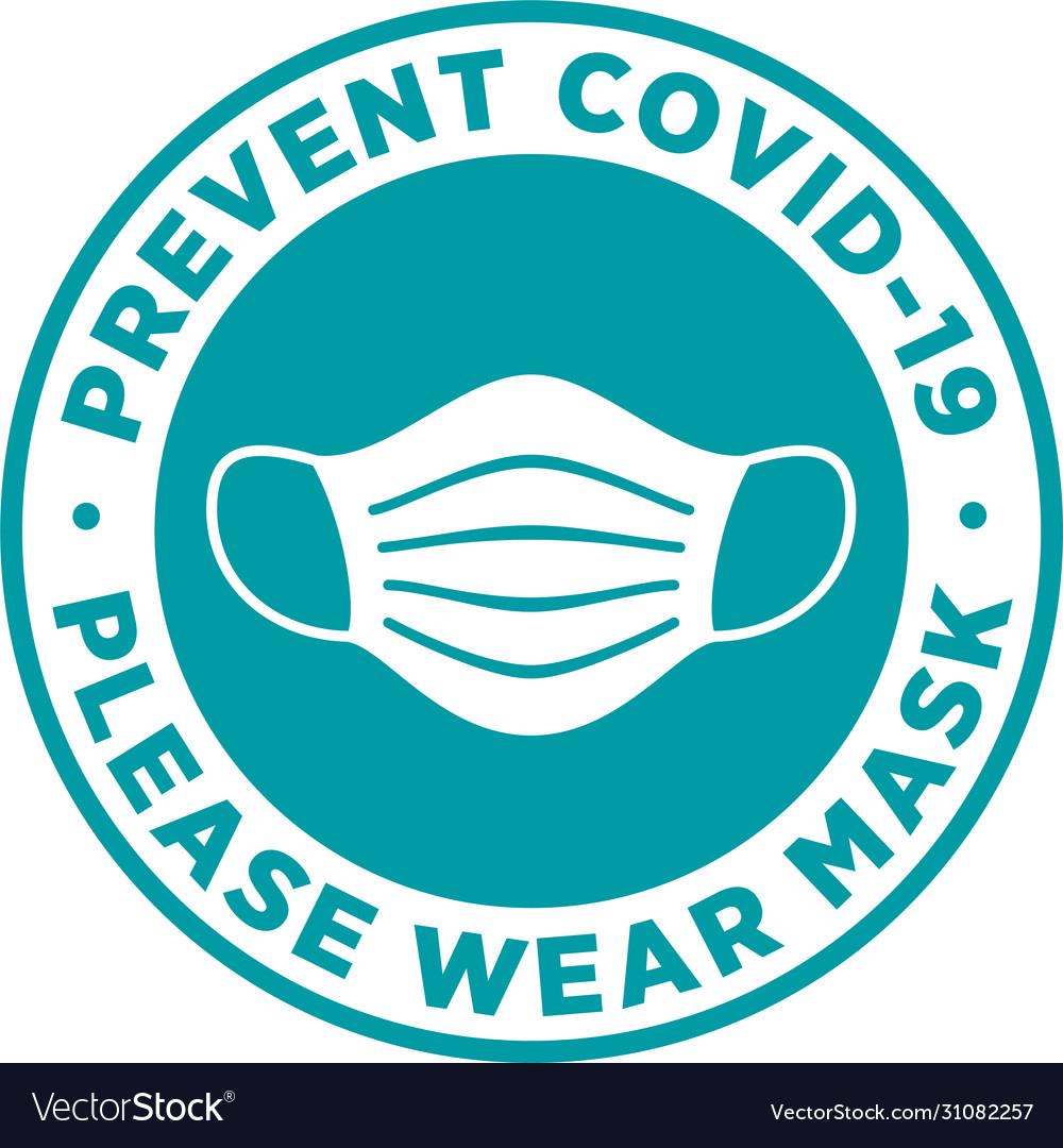 Please wear medical mask signage or sticker
