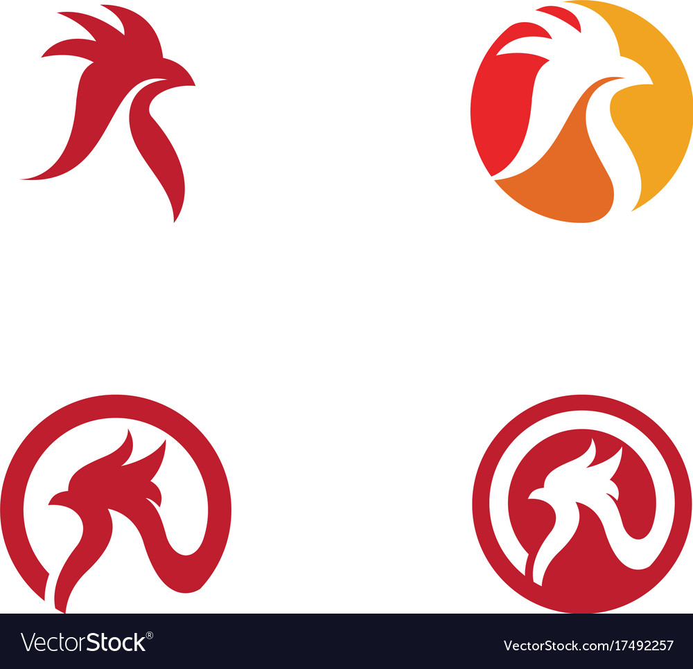 Rooster logo template Royalty Free Vector Image