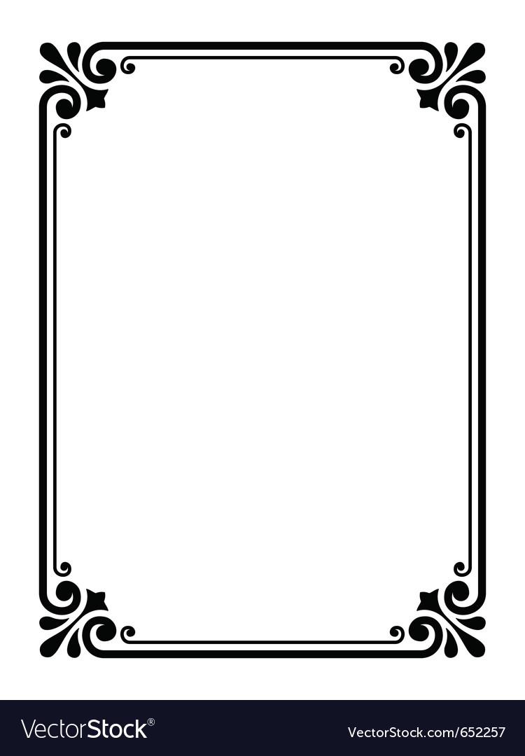 simple ornamental decorative frame royalty free vector image rh vectorstock com frame vector png frame vector art free