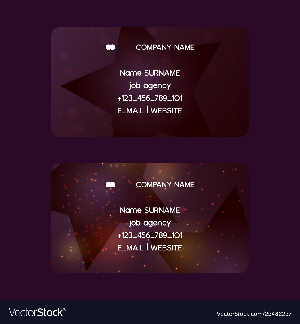 Star business card pattern creative