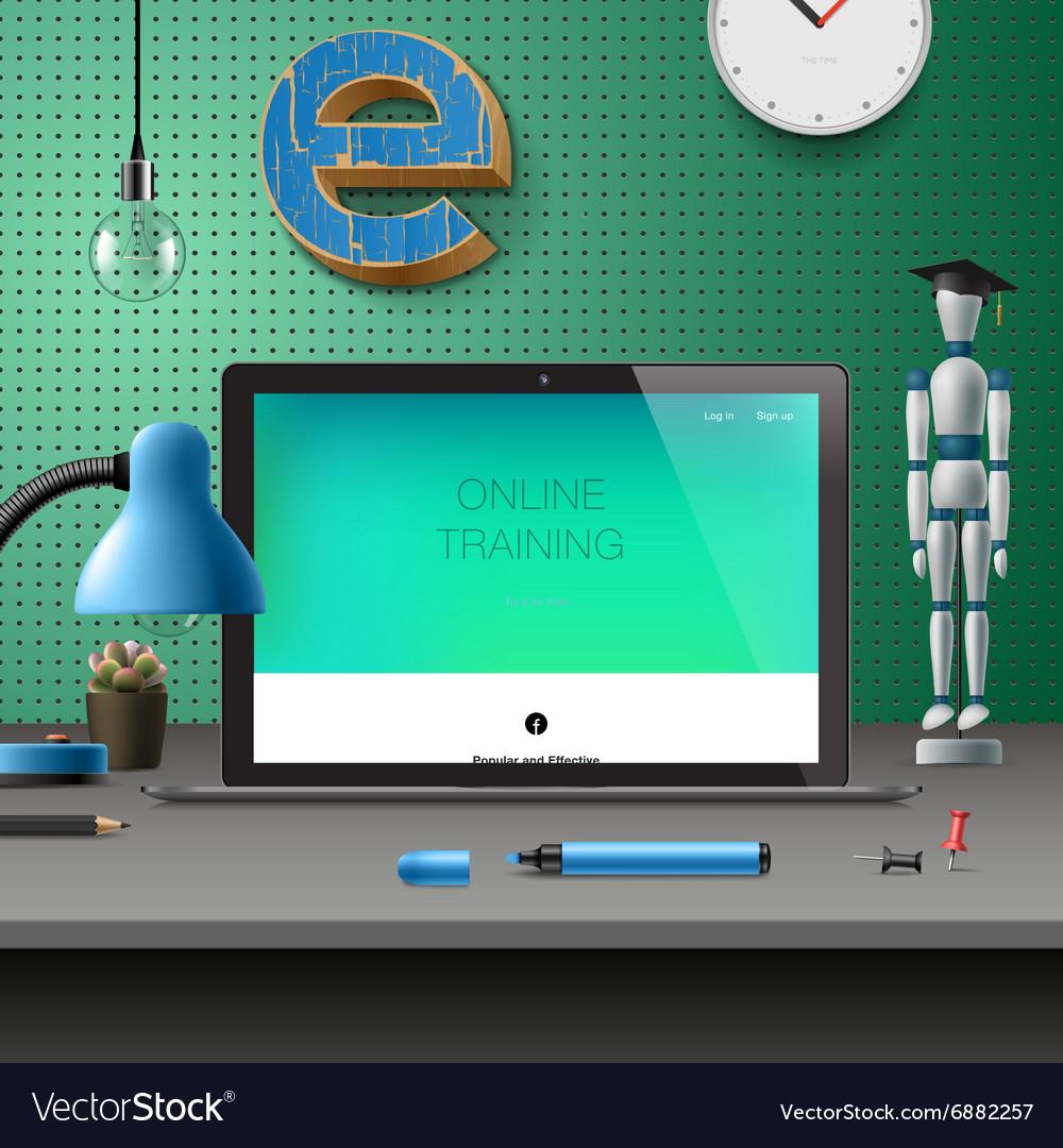 Training Development online education concept