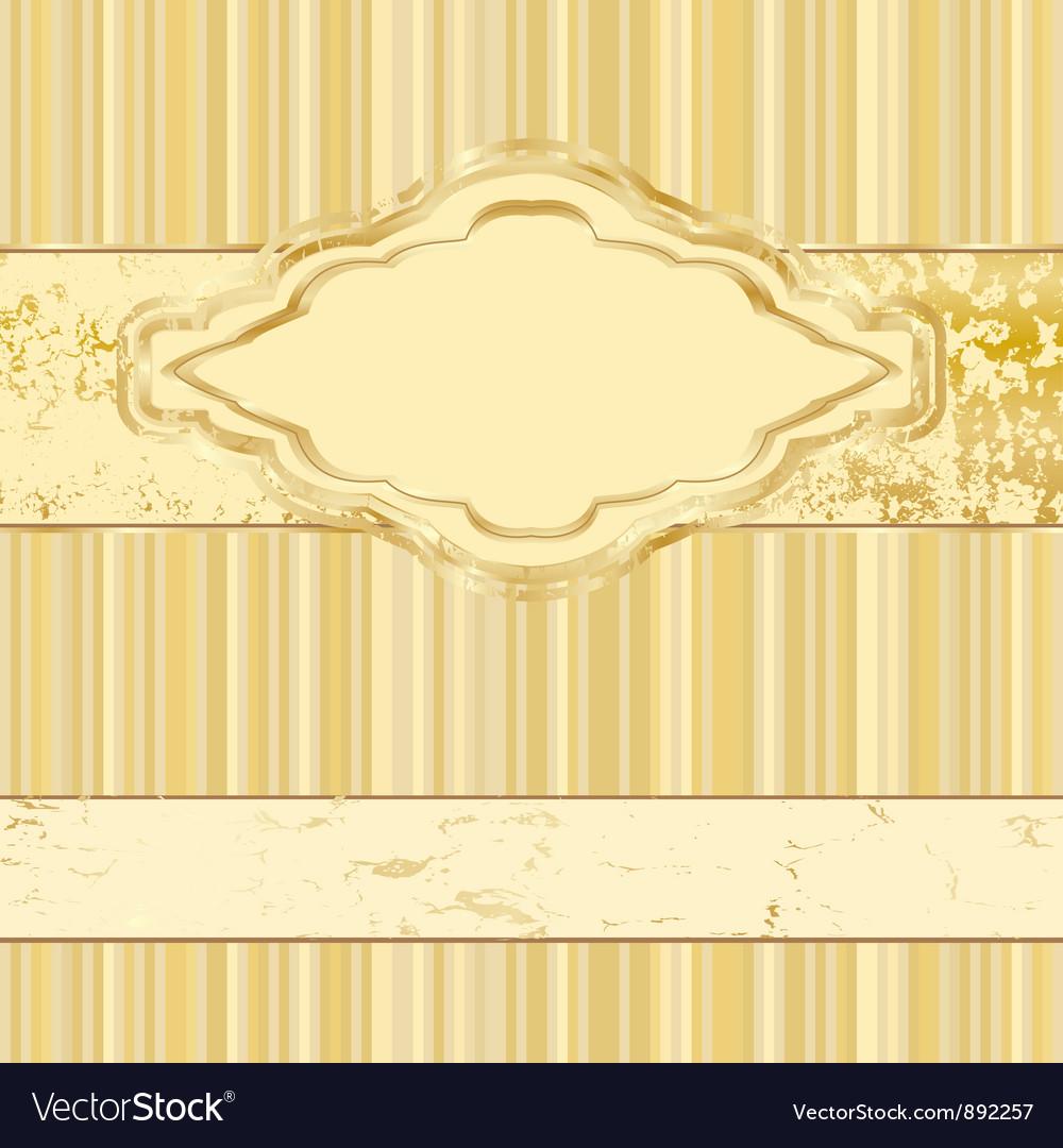 Vintage gold label