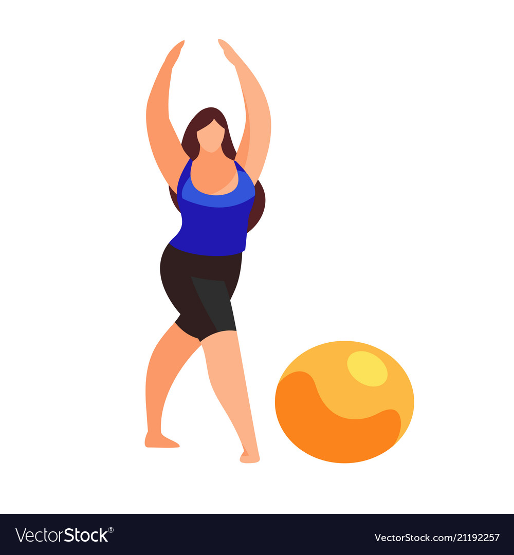 Woman doing fitness exercise isolated