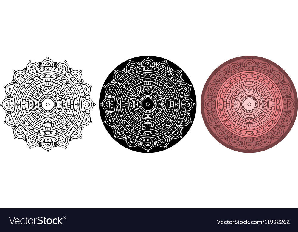Beautiful mandala for coloring book Round pattern