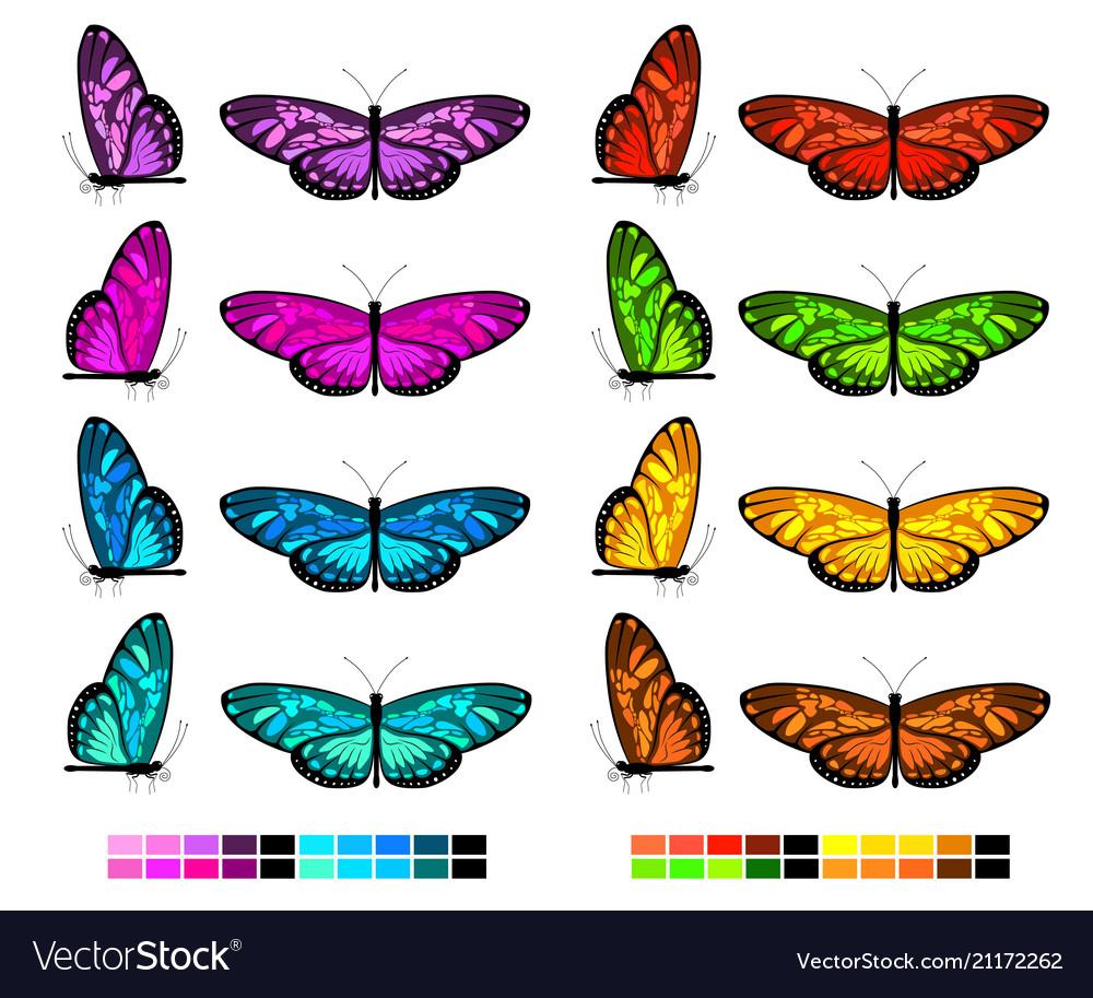 Butterfly set 2