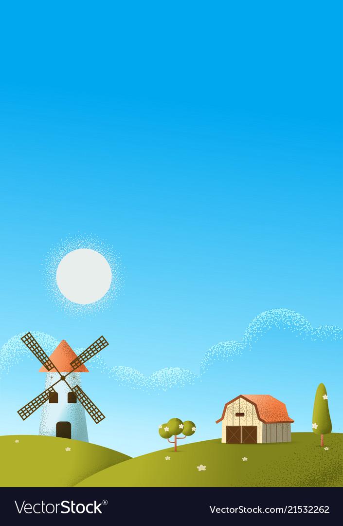 Farm landscape texture style concept