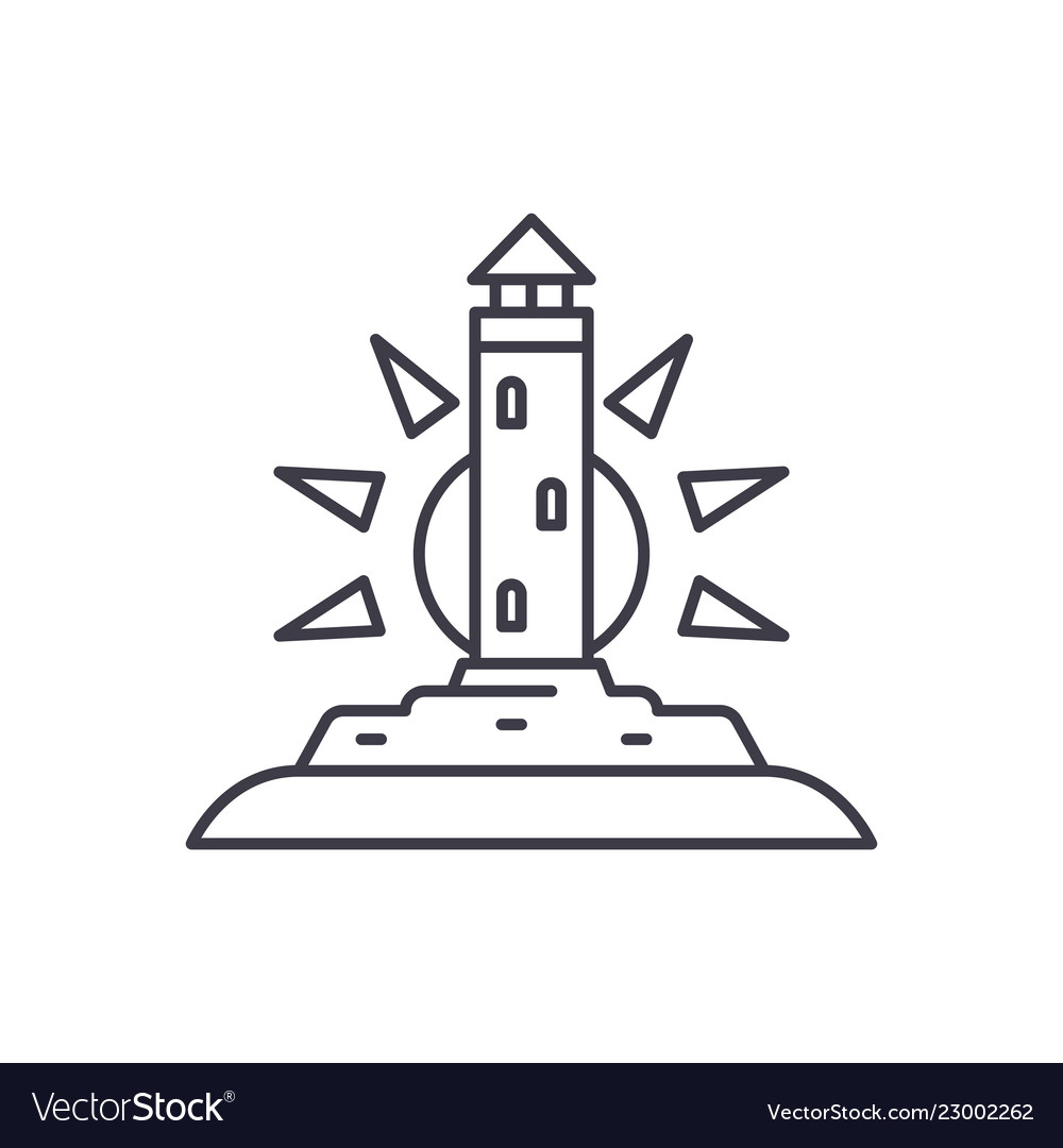 Lighthouse line icon concept lighthouse