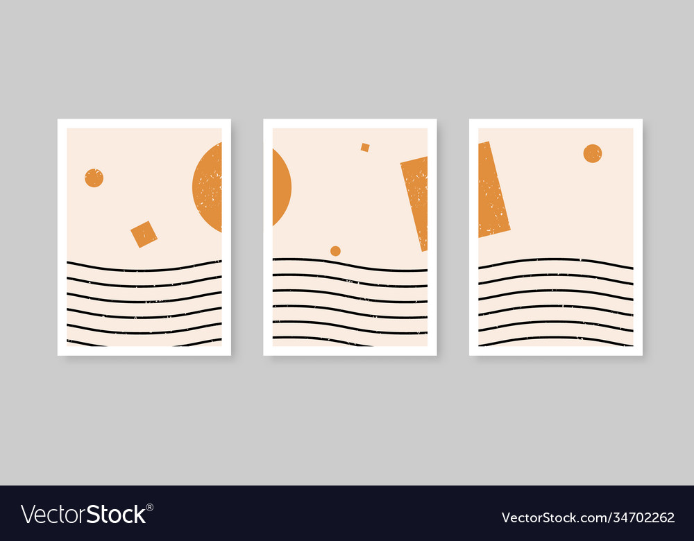 Modern abstract set aesthetic backgrounds with