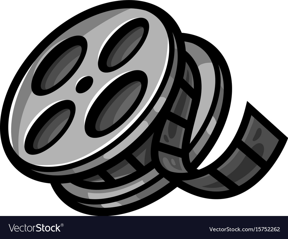 Movie Theater Cinema Film Reel Unspooling Vector Image