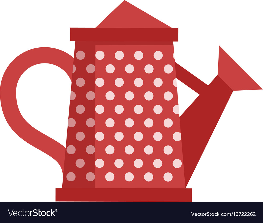 Red watering can icon vector image