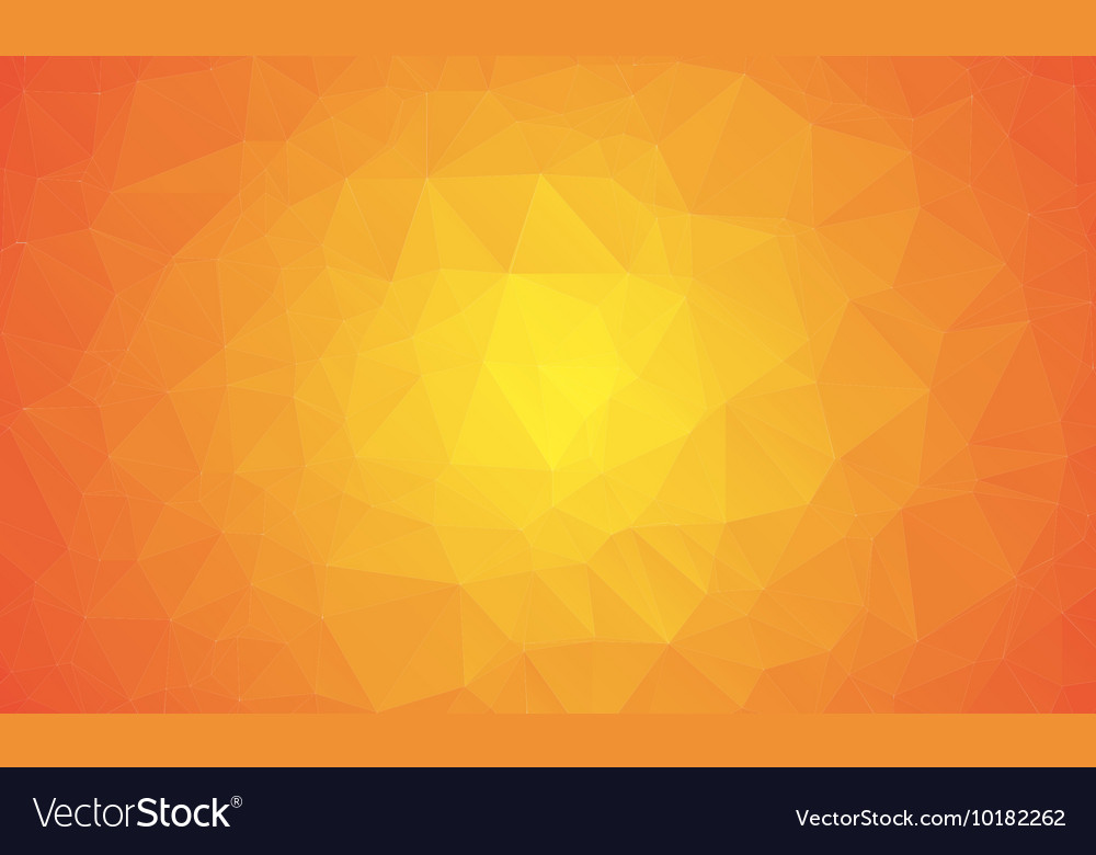 Shades of orange abstract polygonal geometric