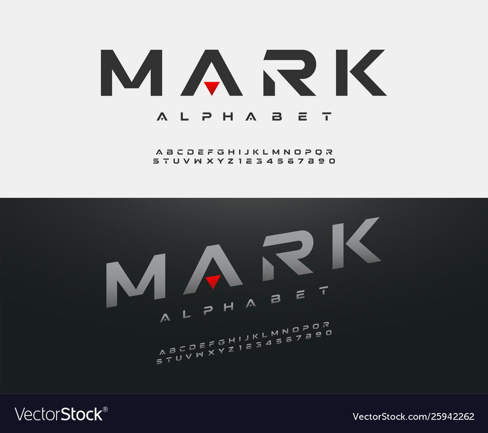 Sport modern alphabet font typography fonts