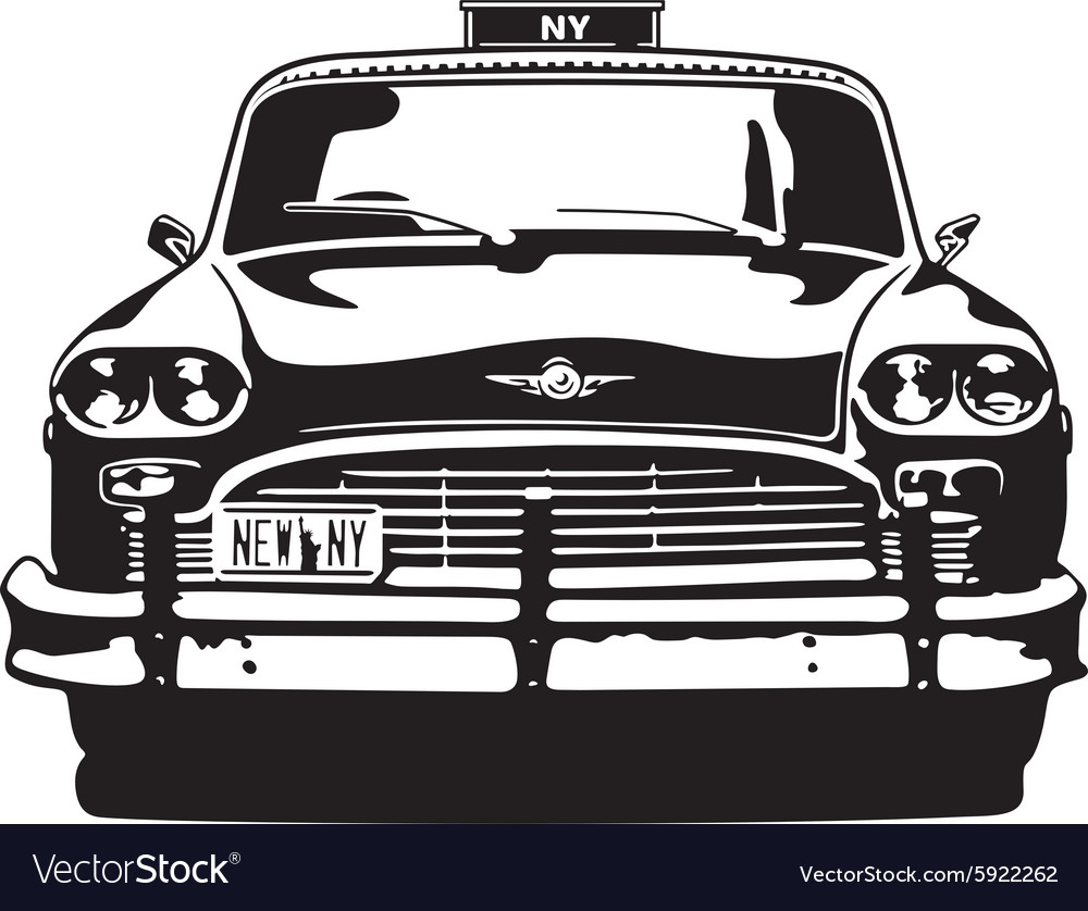 taxi checker new york royalty free vector image  vectorstock