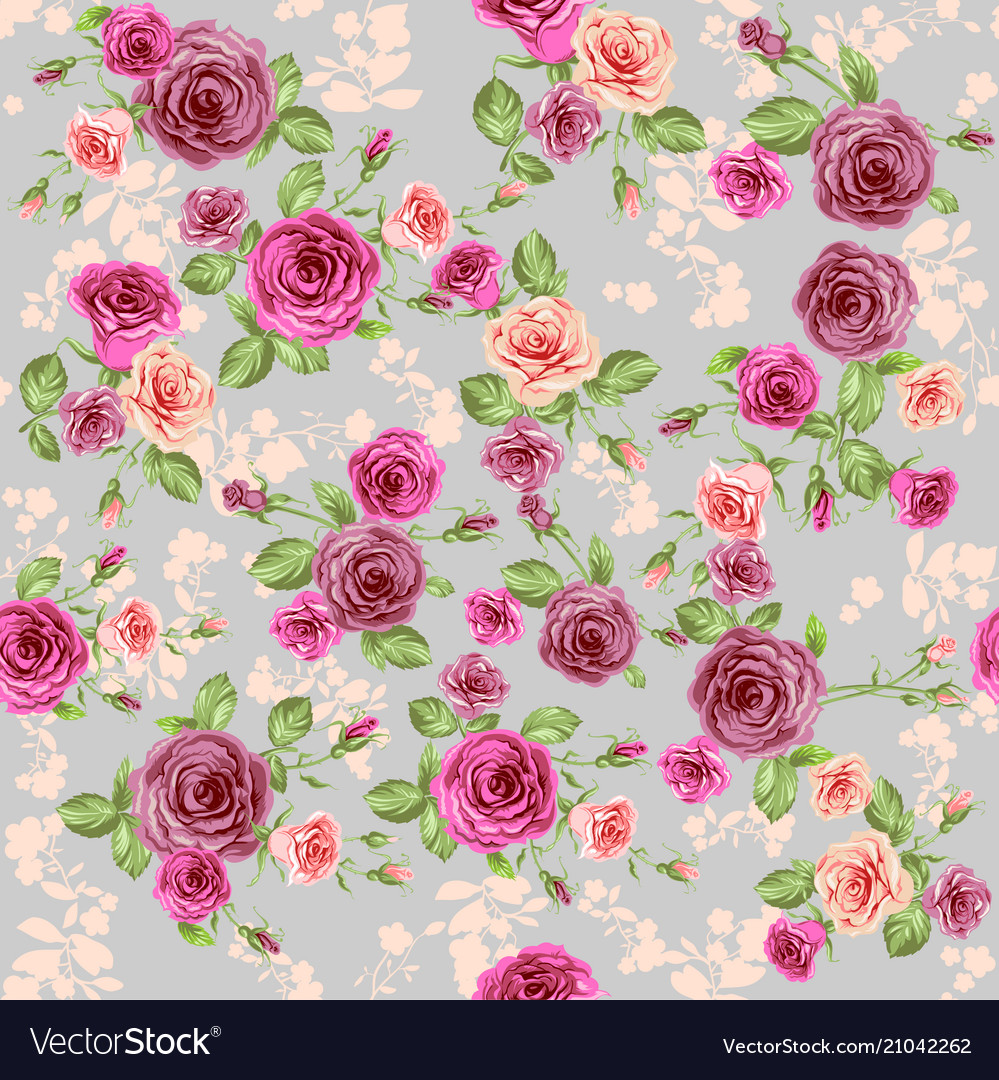 Vintage Floral Pattern Royalty Free Vector Image