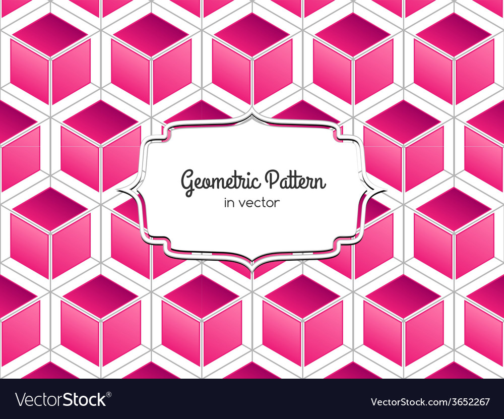 3D Pink Cube vector image