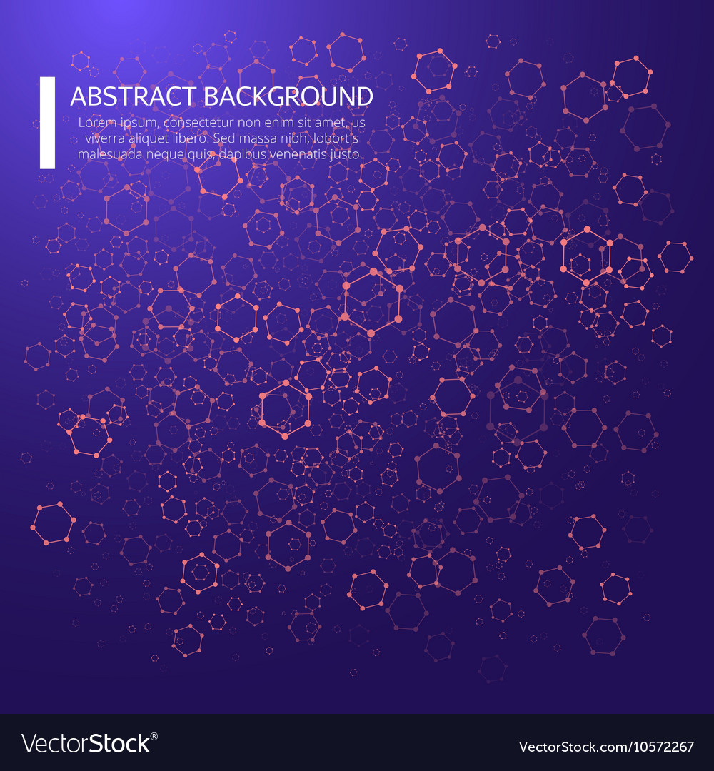 Abstract background with dotted grid and poligonal
