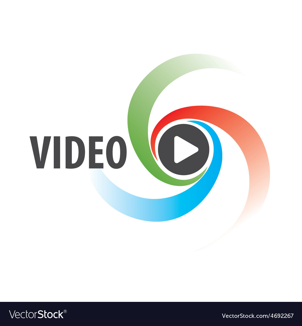 Abstract logo to view the video
