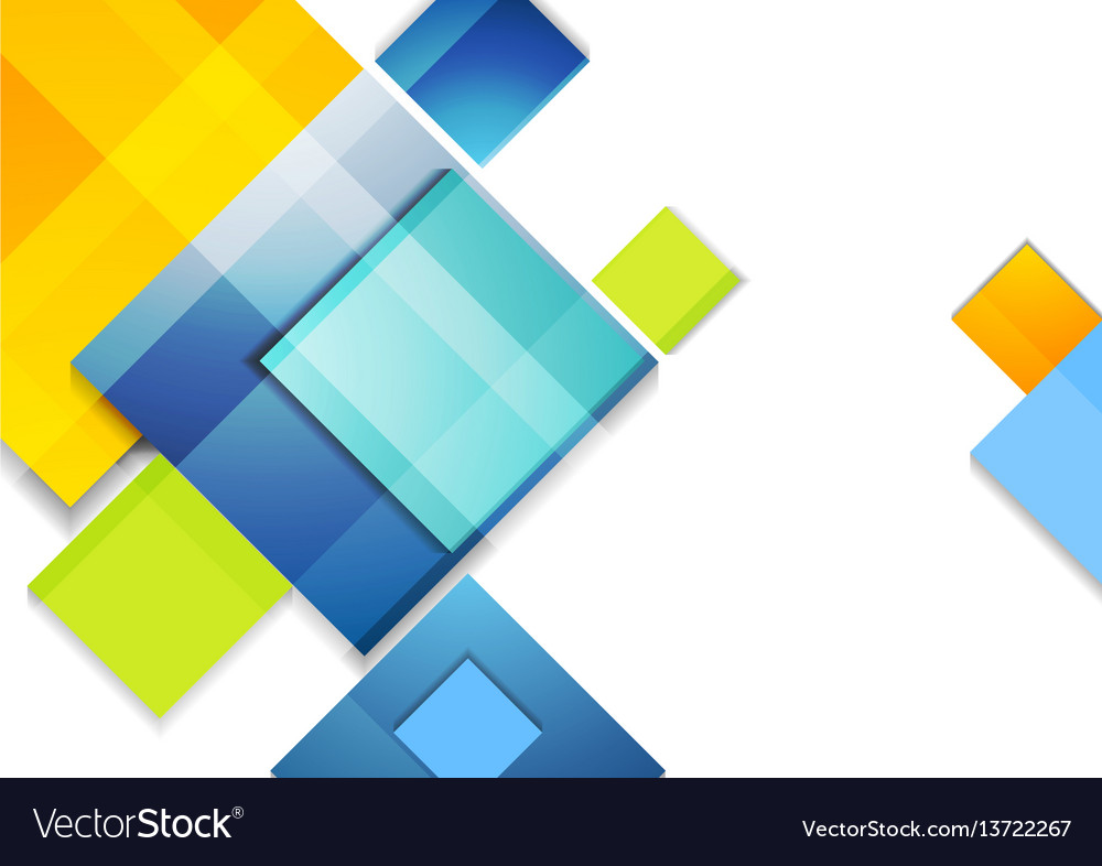 Colorful abstract glossy squares corporate design