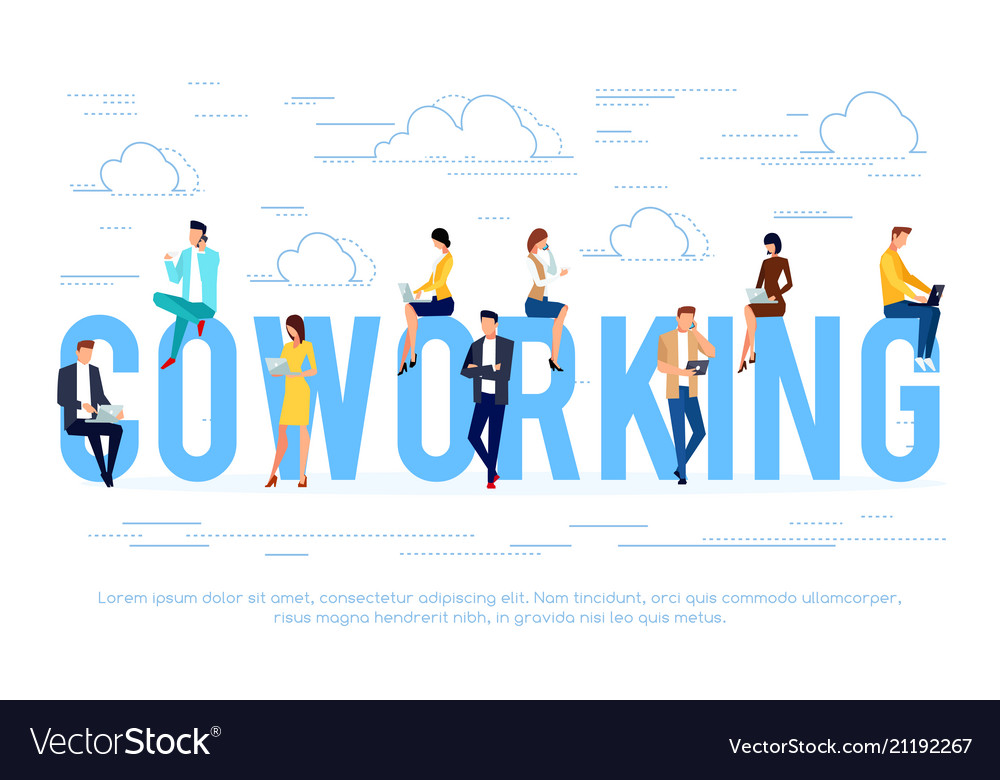 Coworking business concept with young people