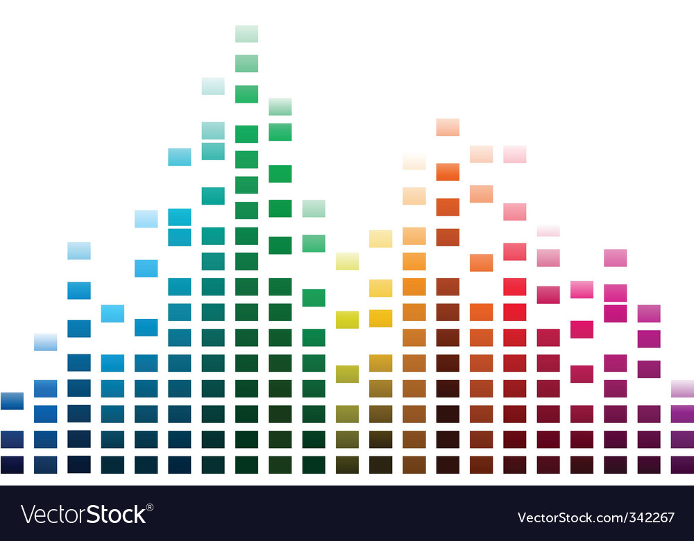 Musical waves vector image