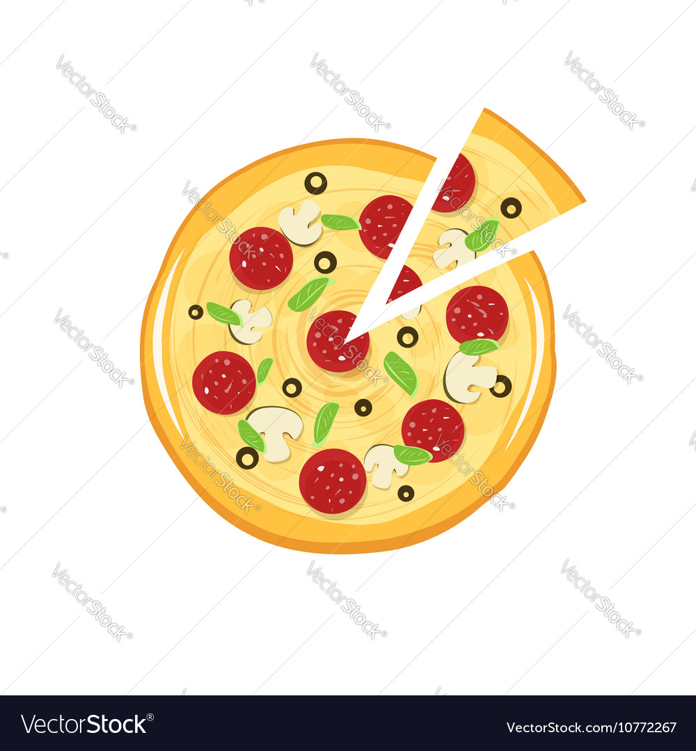Pizza icon isolated on white background