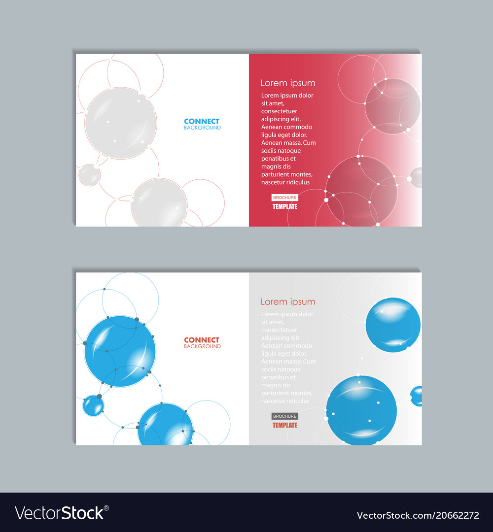 Abstract technology brochure with dots and