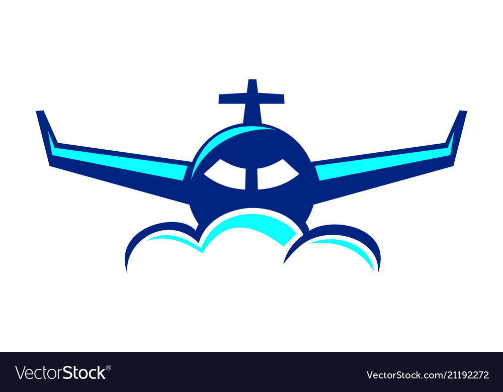 airplane travel logo design template royalty free vector