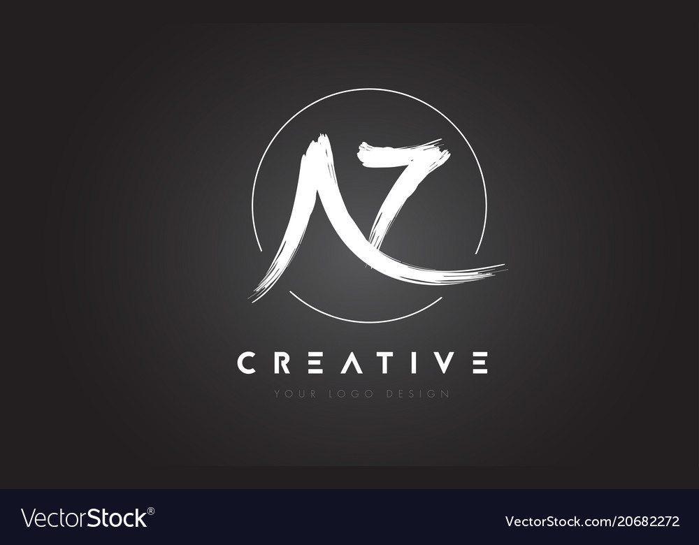 Az brush letter logo design artistic handwritten
