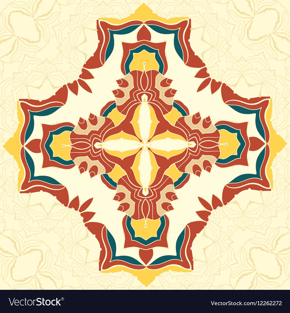 Brown and Yellow Mandala Decorative